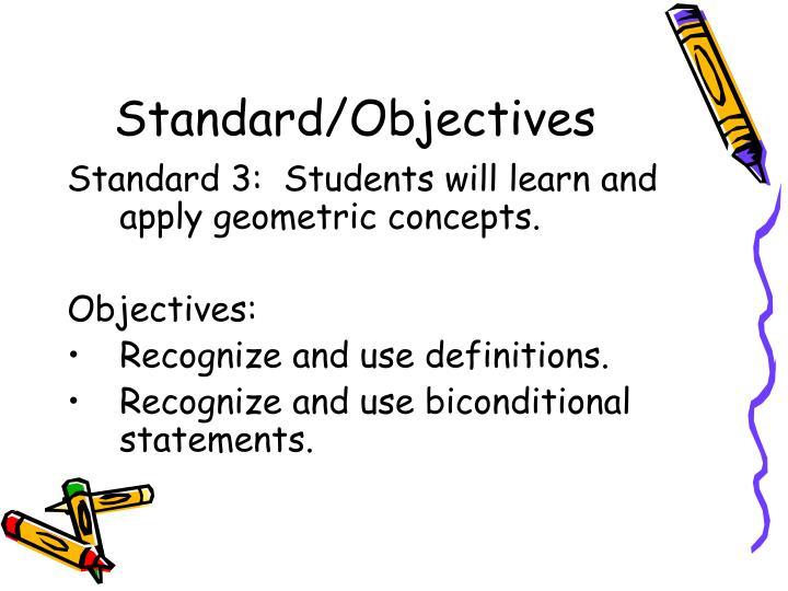 Standard/Objectives