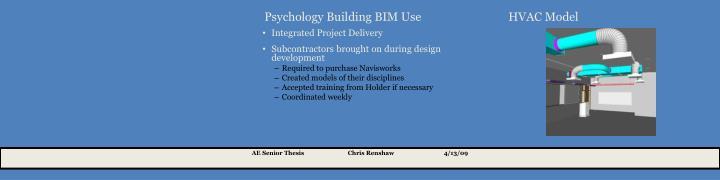 Psychology Building BIM Use