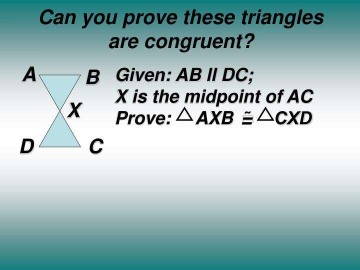 Can you prove these triangles