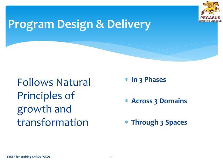 Program Design & Delivery