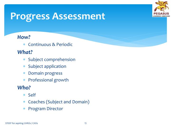 Progress Assessment