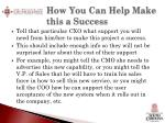how you can help make this a success