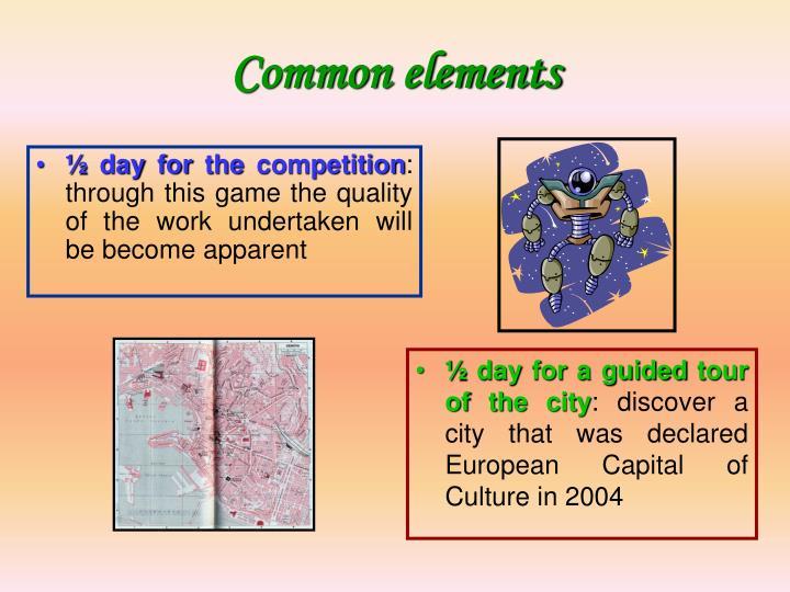 Common elements