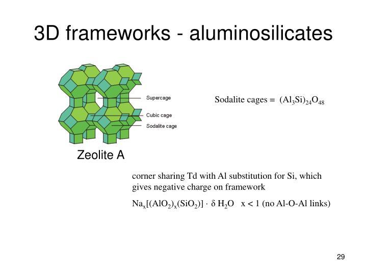 3D frameworks - aluminosilicates