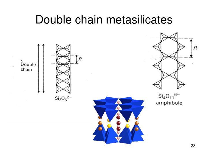 Double chain metasilicates
