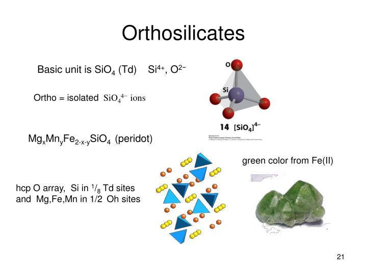 Orthosilicates
