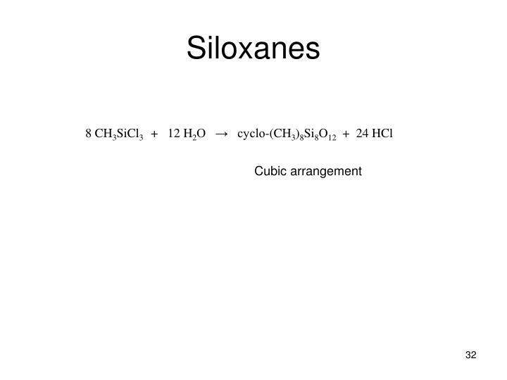 Siloxanes