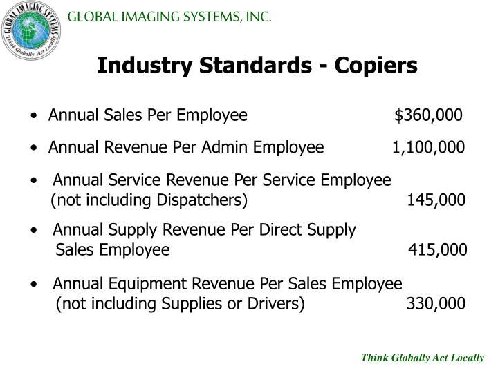 Industry Standards - Copiers