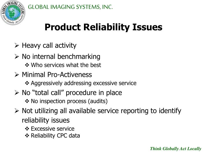 Product Reliability Issues