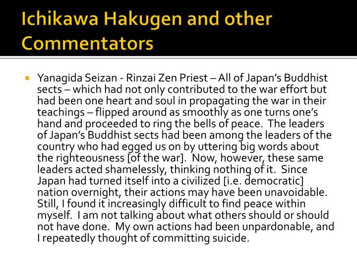 Ichikawa Hakugen and other Commentators
