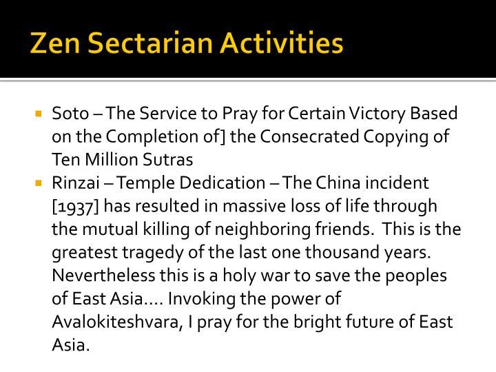 Zen Sectarian Activities