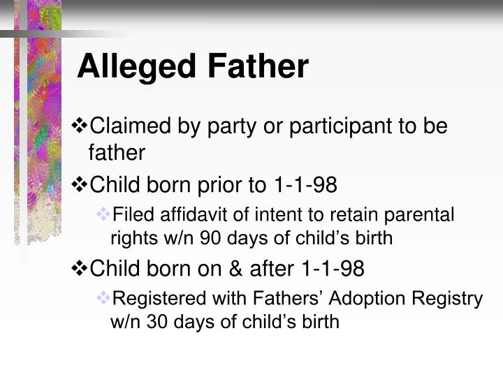 Alleged Father