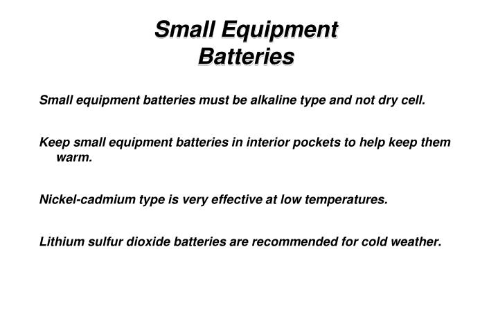 Small Equipment Batteries