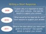 writing a short response