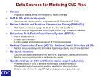 data sources for modeling cvd risk