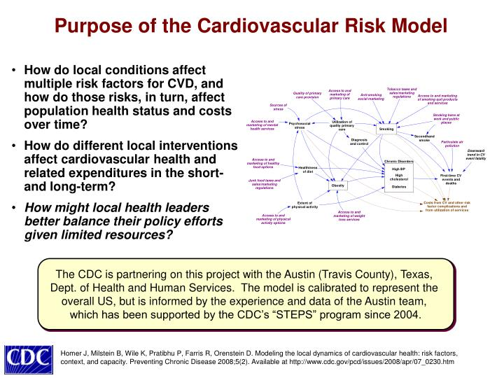 Purpose of the Cardiovascular Risk Model