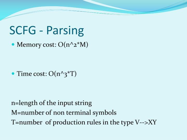 SCFG - Parsing
