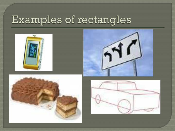 Examples of rectangles