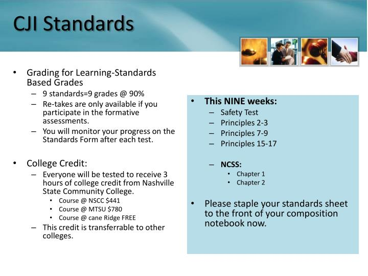 CJI Standards