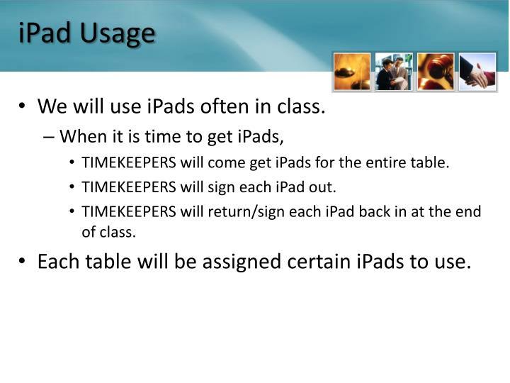 iPad Usage