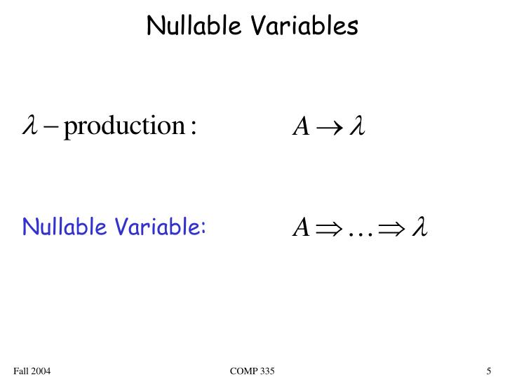 Nullable Variables