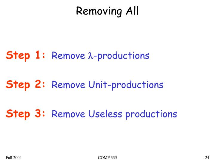 Removing All