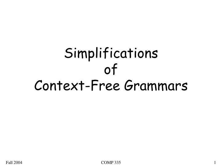 Simplifications