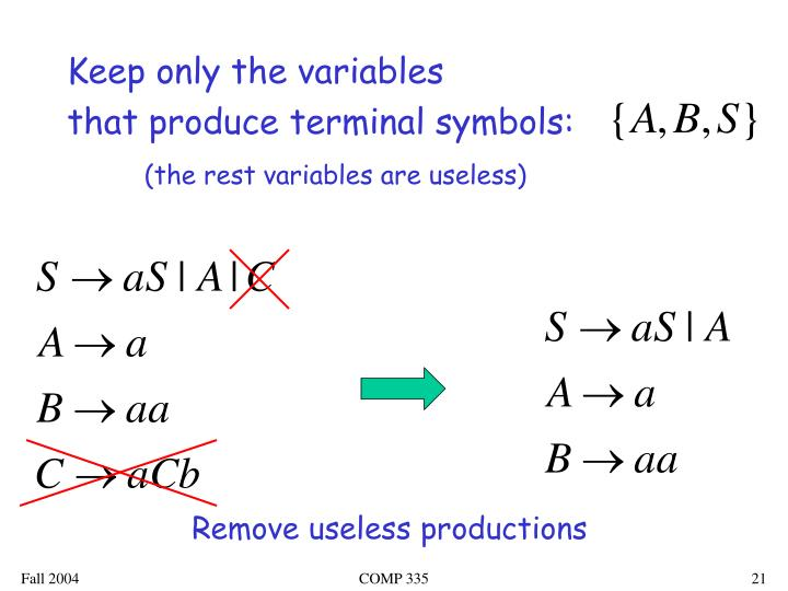 Keep only the variables