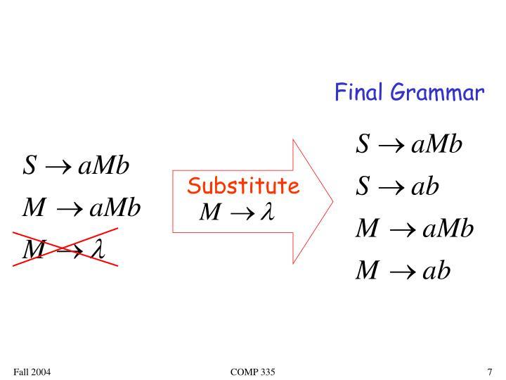 Final Grammar
