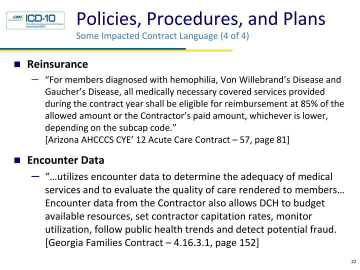 Policies, Procedures, and Plans