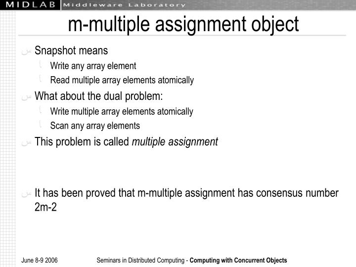 m-multiple assignment object