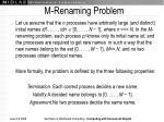 m renaming problem