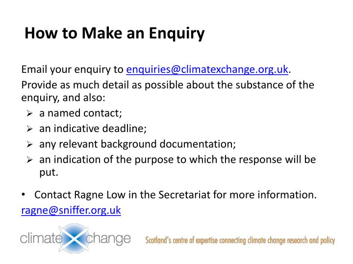 How to Make an Enquiry