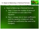 e steps to balancing a chemical formula