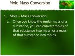 mole mass conversion