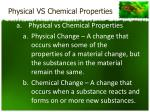 physical vs chemical properties