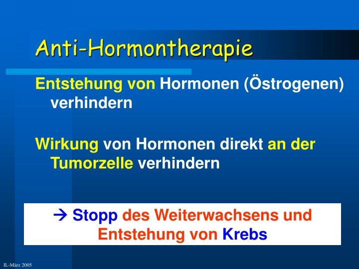 Anti-Hormontherapie