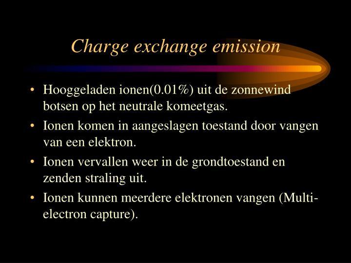 Charge exchange emission