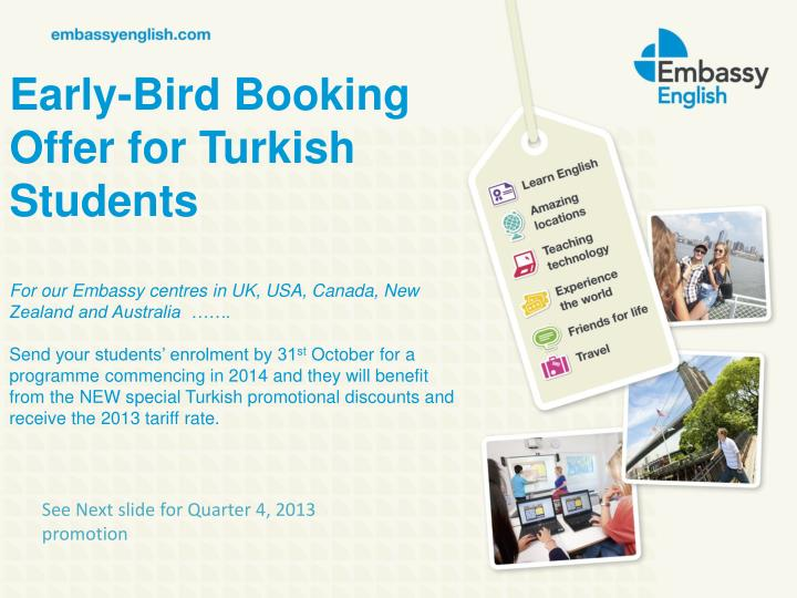Early-Bird Booking