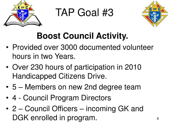 TAP Goal #3