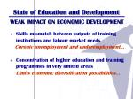 state of education and development2