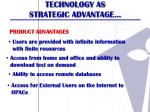 technology as strategic advantage