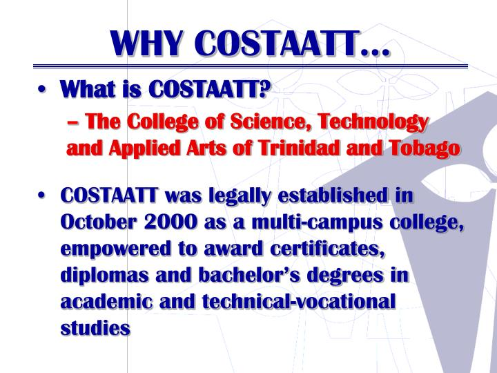 What is COSTAATT?