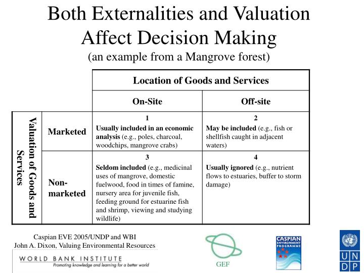 Both Externalities and Valuation Affect Decision Making