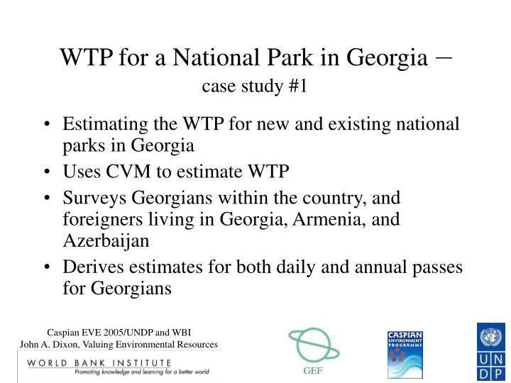 WTP for a National Park in Georgia