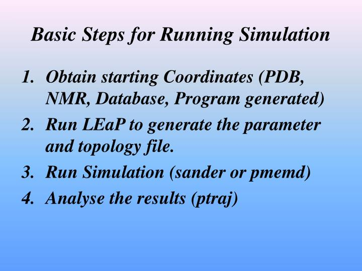 Basic Steps for Running Simulation