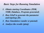 basic steps for running simulation