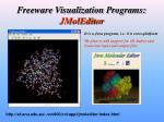 freeware visualization programs jmoleditor