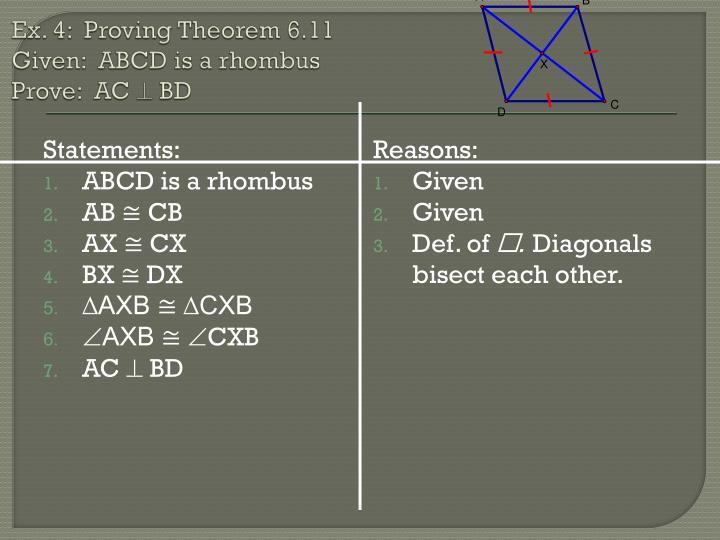 Ex. 4:  Proving Theorem 6.11