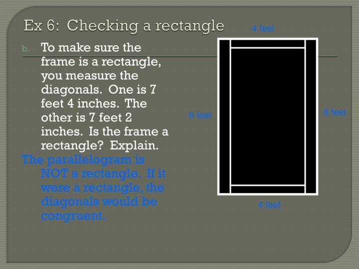 Ex 6:  Checking a rectangle